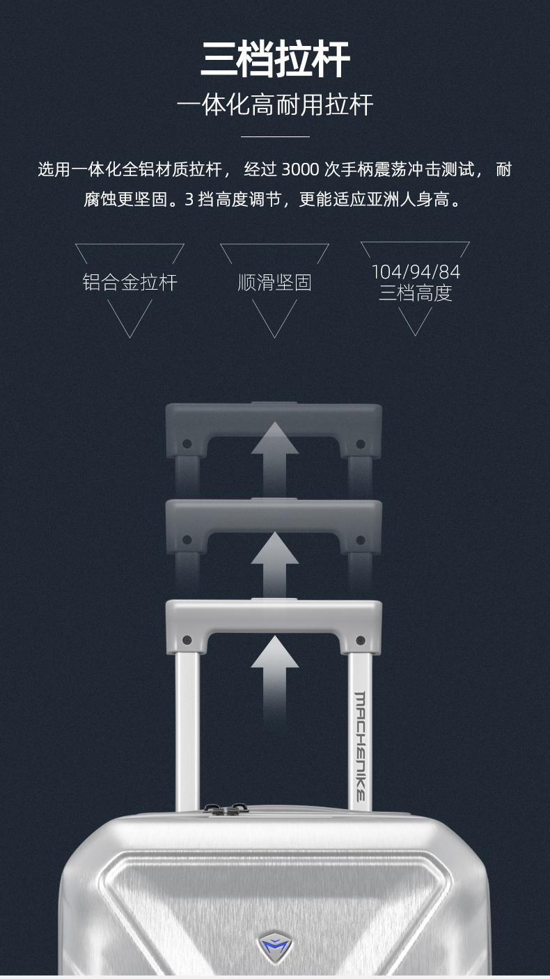 【秋季新品】機械師 新型數碼登機箱 20寸旅行箱/行李箱/數碼安保箱 立體雕刻 3擋高度 防水防摔 時間沙漏外觀專利